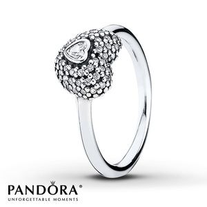 Pandora Cubic Zirconia Heart Ring
